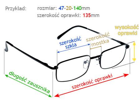 Gdzie sprawdzić rozmiar opraw do okularów