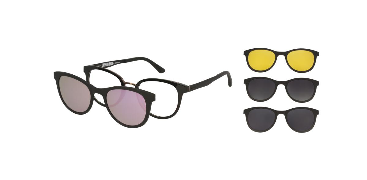okulary z 4 nakładkami przeciwsłonecznymi Solano