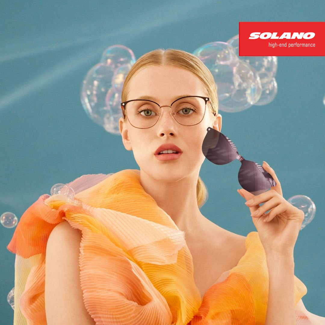 okulary korekcyjne z nakładkami przeciwsłonecznymi Solano Clip-On