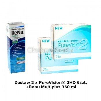 Zestaw 2 x PureVision® 2 6szt.+Renu Multiplus 360 ml