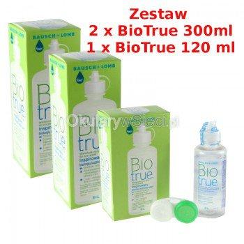 Zestaw BioTrue 2x300ml +120ml
