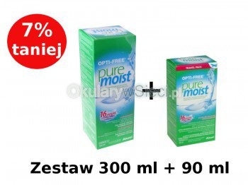 Płyn OptiFree PureMoist 300+90 ml, Opti Free
