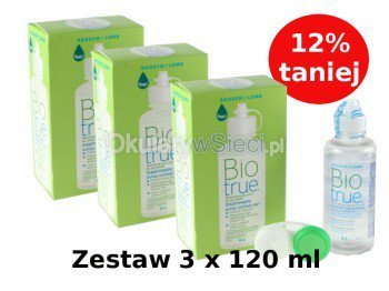 Płyn BioTrue 3x120 ml