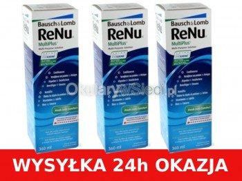 Zestaw Płyn ReNu Multiplus 3x360ml