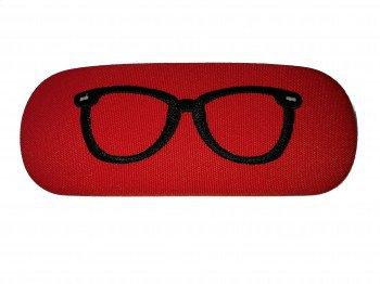 Etui na okulary czerwone