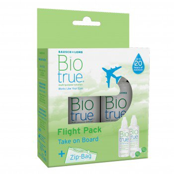 Zestaw podróżny Biotrue Flight Pack 2x60 ml