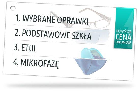 Damskie i męskie oprawki do okularów wraz ze szkłami korekcyjnymi, etui i ściereczką do czyszczenia okularów