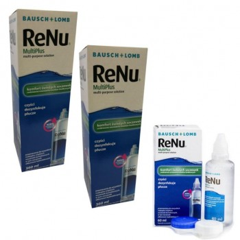 ReNu MultiPlus 2x360ml Bausch Lomb + 60ml GRATIS