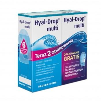 Krople nawilżające do oczu bez konserwantów Hyal-Drop 2x10ml