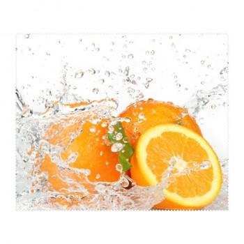 Ściereczka mikrofaza do czyszczenia okularów pomarańcze