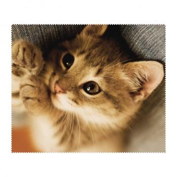 Ściereczka mikrofaza do czyszczenia okularów kot